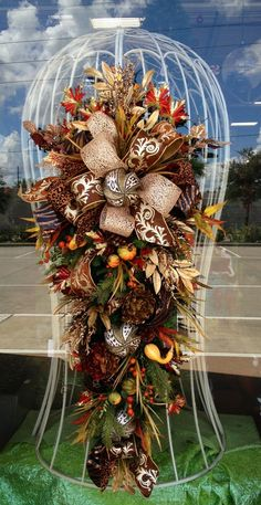 Autumn Swag | Fall door swag
