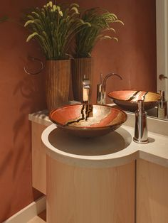 Love this unique sink! Guest Bathroom Design, Pictures, Remodel, Decor and Ideas - page 27