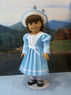 Classic Sailor Frock hat fits American Girl Samantha Rebecca 18 in. dolls #ClothingShoes