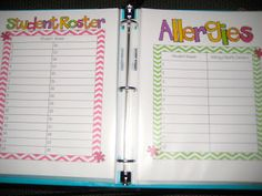 Yearly binder - organize information on students each year, lesson plans, and maybe include places for extra notes to remember while planning for the following year.