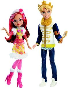 It's twice the adventure with two Ever After High dolls in one pack. In the Ever After High Netflix Original Series Epic Winter, the school experiences a magical snow day, but is it to be forever after? As the teens of Ever After High try to avoid winter forever after, Daring Charming and Rosabella Beauty dolls face a beastly curse. Both dolls look fabulous in iconic outfits...