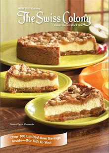 Gourmet desserts and food gifts since 1926, from The Swiss Colony catalog