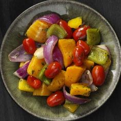 Rainbow Vegetable Skillet Recipe: had to repin. Swapped butternut with sweet potato. Both littles (1 & 3) kept asking for more!!