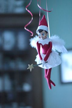 Elf on a Shelf - Fairy style Angel wing ornament from Pier 1