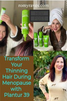 Ladies - This is me, being real and maybe over sharing, but, as I begin the early phases of menopause I've sadly noticed my hair thinning more than I'm comfortable with. I am loving the results I'm seeing with Plantur 39 and know you will too. #hair #thinning