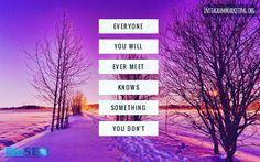 #everyoneknowssomething #youdontknoweverything # # # # Instagram @martinhosner #followme