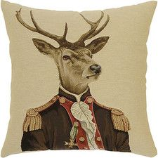 Shop Deer In Jackets Cushion, Baron Brown Jacket at Interiors Online. Exclusive High End Furniture. OFF First Order & Australia Wide Delivery Dog Cushions, Velvet Cushions, Pillows, Throw Pillow, Stag Cushion, Indoor Outdoor, Ski Lodge Decor, Paris 3, Leather Chesterfield