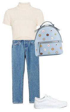 """""""Casuall typical scandinavian"""" by sirine05 on Polyvore featuring Staud, Vans and Fendi"""
