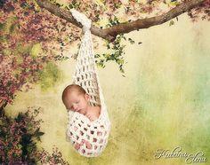 Newborn Stork Pouch Sling/ Newborn hanging by WillowsGarden