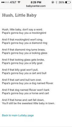Hush Little Baby Lyrics