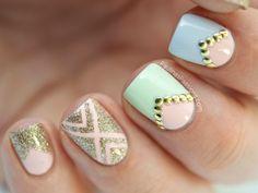 Diseños de Uñas en colores Pastel 7
