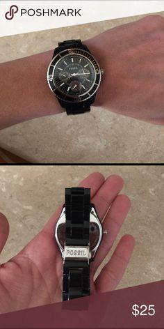 Black Fossil Watch Black Fossil Watch Fossil Accessories Watches