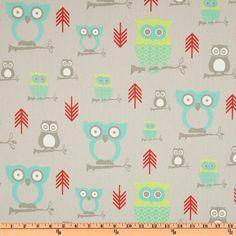 Premier Prints Hooty Twill Harmony - Discount Designer Fabric - Fabric.com