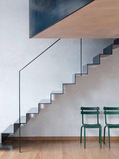 Interior Stairs, Interior Architecture, Interior Design, Architecture Restaurant, Sustainable Architecture, Residential Architecture, Contemporary Architecture, Staircase Handrail, Staircase Design