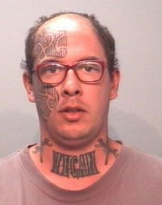 When someone has a face tattoo it's the signal that a ratchet fool is approaching. Take a look at some of the most insane face tattoos of all time. Tattoos Gone Wrong, Terrible Tattoos, Bad Face Tattoos, Funny Tattoos, Worst Tattoos, Facial Tattoos, Awesome Tattoos, Vegan Tattoo, Stupid Face