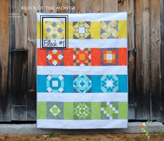 block of the month 2015 the blocks are all the same 9 patch different configuration of of color placement. Wow.  Love!
