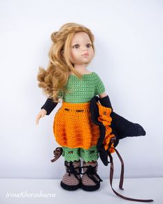 Doll Crochet Halloween costume Crochet Halloween outfit for | Etsy