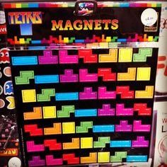 Tetris Magnets.  Too cool.
