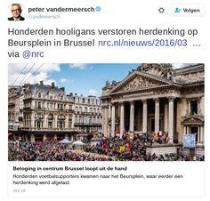 Wereldwijd neo nazi's in Nederland 'hooligans'  Degenen die in Brussel die de nagedachtenis aan slachtoffers van de aanslag verstoren worden in de media wereldwijd geduid als neo nazi's. Peter Vandermeersch zelf Belg en hoofdredacteur van kwalitietskrant NRC noemt ze 'hooligans'. Net als de overige Nederlandse media. Hoe lang blijft deze doorgeschoten politieke correctheid doorgaan? Hoe lang mogen deze extreem rechtse figuren dreigen schelden etc. terwijl hoaxes over juichende leerlingen…