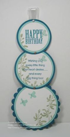 A Telescoping Birthday by ravengirl - Cards and Paper Crafts at Splitcoaststampers