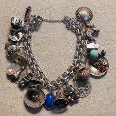 Vintage Sterling Silver Loaded Chunky Charm Bracelet Carousel Cash Register Coke. Get the lowest price on Vintage Sterling Silver Loaded Chunky Charm Bracelet Carousel Cash Register Coke and other fabulous designer clothing and accessories! Shop Tradesy now