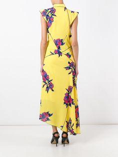 Proenza Schouler asymmetric floral maxi dress