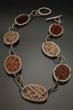 Lynette Andreasen (US) - undergraduate Work - 'Bound By Color' sterling Silver, Embroidery Thread