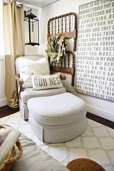 See how this bedroom was turned into a dreamy farmhouse guest bedroom with &; See how this bedroom was turned into a dreamy farmhouse guest bedroom with &; Farmhouse Style Bedrooms, Country Farmhouse Decor, Vintage Farmhouse, Farmhouse Artwork, Home Bedroom, Bedroom Wall, Master Bedroom, Budget Bedroom, Boys Bedroom Decor