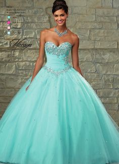 Solid pastel chiffon combines sparkling crystals in this amazing Mori Lee Vizcaya 89028 Quinceanera dress. Sweetheart strapless the bodice is topped with a sequin and crystal motif over the bust and...