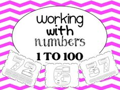 Working With Numbers 1 to 100 - Gives young learners that extra practice they need with tallies, ten frames, number writing, number words and odd vs. even!  Great resource!
