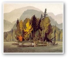 Casson, Hazy October Morning, Canadian Group of Seven Group Of Seven Artists, Group Of Seven Paintings, Paintings Famous, Beautiful Paintings, Art Paintings, Tom Thomson, Emily Carr, Canadian Painters, Canadian Artists