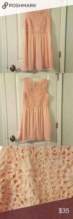 Dress--**2nd PRICE DROP** NEW!! Size: large Color: baby pink Francesca's Collections Dresses Midi
