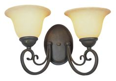 Trans Globe Lighting 6522 ABZ New Century Lighting 2 Light Wall Sconce