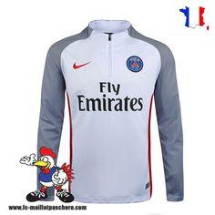 Promo Nouveau Homme Sweatshirt Training PSG Strike Drill Blanc/ Rouge Saison 16 17 Thailande