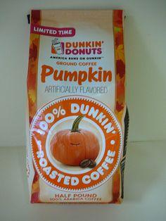 Dunkin' Donuts Pumpkin Coffee. #pumpkin