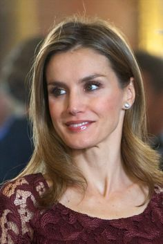 Princess Letizia of Spain attends Spain's National Day Royal Reception at the Zarzuela Palace on 12.10.13 in Madrid, Spain.