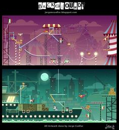 ANIMATION BACKGROUNDS by Jorge Cuellar, via Behance