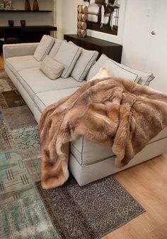 Honey Possum Fur Sofa Throw Www Gorgeouscreatures Co Nz