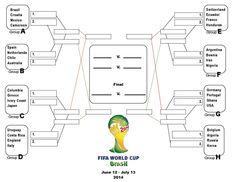 Printable 2014 FIFA World Cup Brazil soccer bracket office