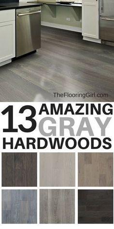 grey flooring 13 Amazing Gray Hardwood Floors You Can Buy Online White Laminate Flooring, Grey Hardwood Floors, Hardwood Floor Colors, Refinishing Hardwood Floors, Engineered Hardwood Flooring, Grey Flooring, Flooring Ideas, Flooring Types, Red Oak Floors