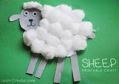 { Printable Sheep Craft } http://learncreatelove.com/?p=7499