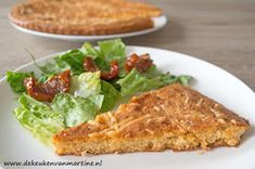 De keuken van Martine: Kaastaart Paleo Quiche, Low Carb Quiche, Healthy Treats, Healthy Recipes, Lunch Buffet, Health Snacks, Savoury Cake, Other Recipes, Tapas