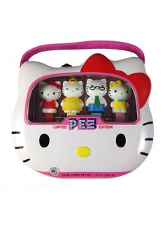 Hello Kitty PEZ Dispenser set with Tin
