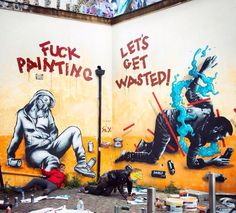 "Collab Zabou + Sr. X - ""Wasted"" - London, UK - May 2015"