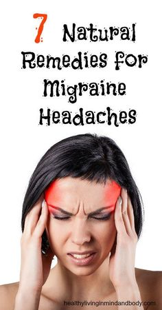 For most people who experience an occasional headache, a couple of aspirin will usually do the trick. Migraine sufferers don't have it so easy. Not only do many migraine meds have side effects that range Natural Remedies For Migraines, Natural Home Remedies, Herbal Remedies, Health Remedies, Home Remedy For Migraines, Asthma Remedies, Holistic Remedies, Getting Rid Of Migraines, Migraine Relief