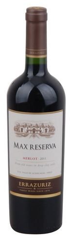 In stock - 12,– € 2011 Errazuriz Max Reserva Merlot, red dry , Chile - 89pt Colour of this wine is dark ruby with garnet rim. Viscosity on the glass corresponds to higher content of alcohol. Aroma is nice, varietal, at the beginning pleasant and cassis of blackcurrants, underlined by smooth tanstuffs. Dark forest bush fruit is enriched by soft smokey undertone.
