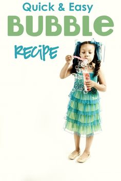 Bubble recipe!  Fast and Easy!