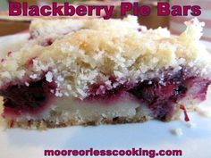 the BEST Blackberry Pie bars you will ever eat!!
