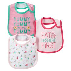Just One You�Made by Carter's� Newborn Girls' 3 Pack Floral Bib Set