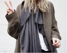 We couldn't be happier that it's Friday // Wearing Coat C22 ($188) and scarf B17 ($28.80) // #TGIF